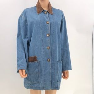 ivy collectibles jean jacket vintage made in USA